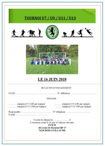 bulletin d'inscription 2018