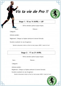 stage avril bulletin d'inscription